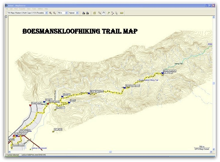 boesmanskloof hiking trail maps